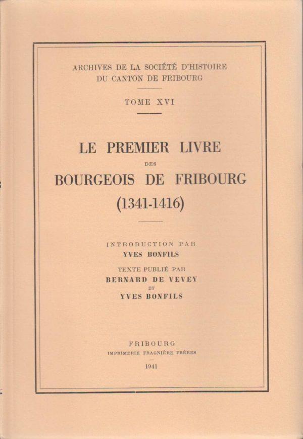 AA16 Le premier livre des bourgeois de Fribourg (1341-1416)