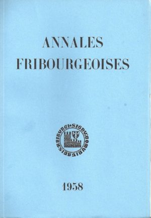 AF43 Annales fribourgeoises 1958