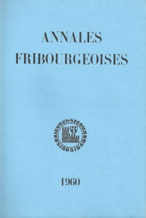 AF44 Annales fribourgeoises 1960