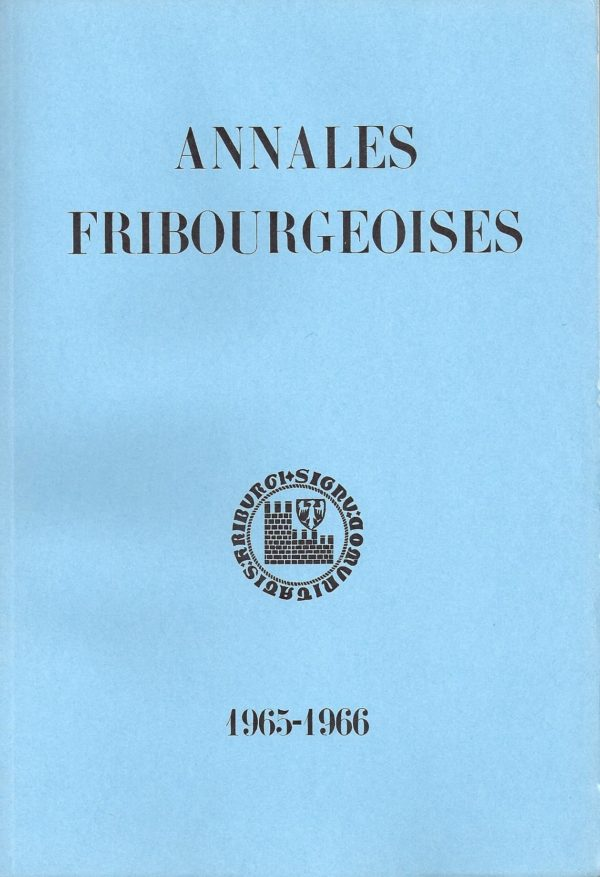AF47 Annales fribourgeoises 1965-1966