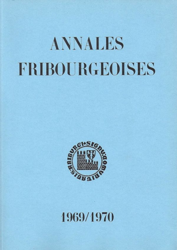 AF50 Annales fribourgeoises 1969-1970