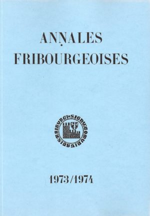 AF52 Annales fribourgeoises 1973-1974