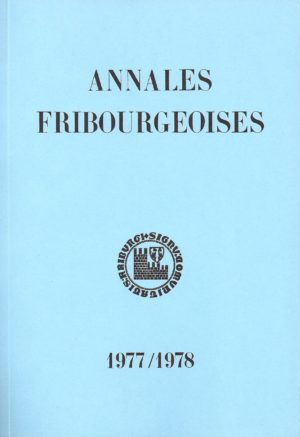 AF54 Annales fribourgeoises 1977-1978