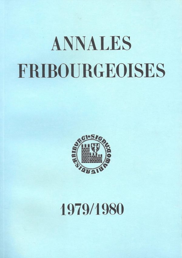 AF55 Annales fribourgeoises 1979-1980