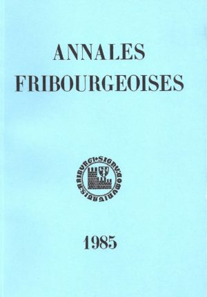 AF56 Annales fribourgeoises 1985