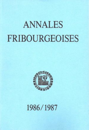 AF57 Annales fribourgeoises 1986-1987