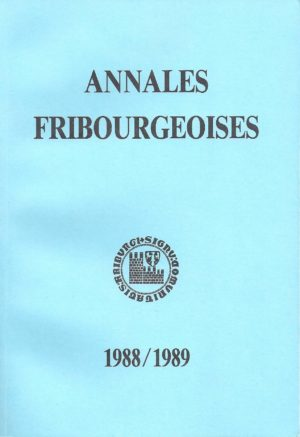 AF58 Annales fribourgeoises 1988-1989