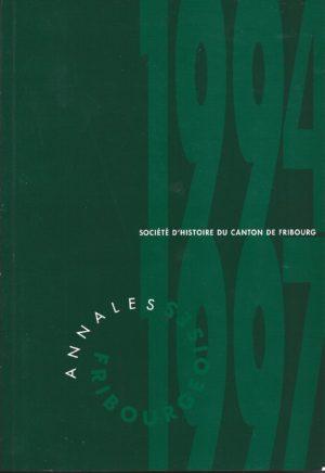 AF61/62 Annales fribourgeoises 1994-1997